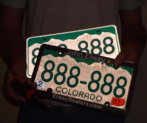 License Plates - Yes, TWO of them!