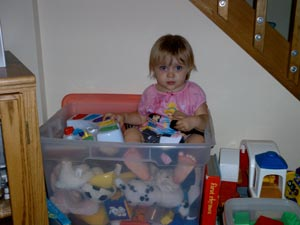Adrianna and her toys