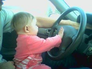 Adrianna drives the car