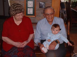 Adrianna and her great-grandparents