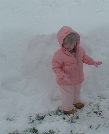 Adrianna in the snow