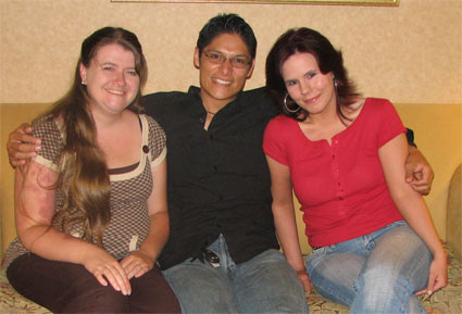 Amber Reimer, Juan Gomez, and Kristy Winders