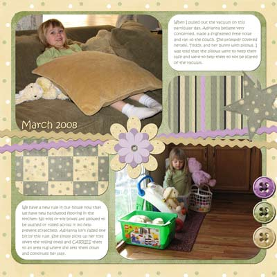 Scrapbook Page Using Template 7 and Kit 1