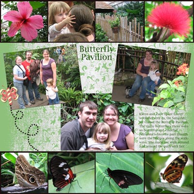 Butterfly Pavillion - Scrapbook Page