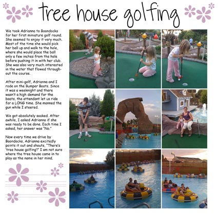 Tree House Golfing Scrapbook Layout