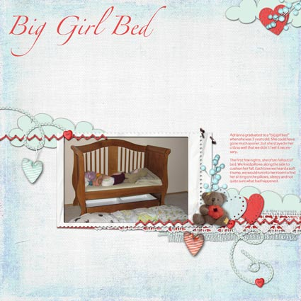 Big Girl Bed Scrapbook Layout