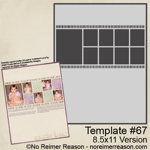 8.5x11 Digital Scrapbook Template
