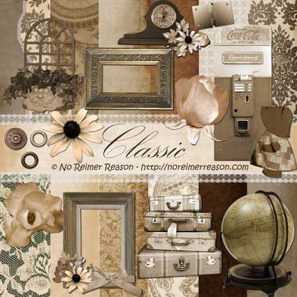 Free Digital Scrapbook Kit - Classic