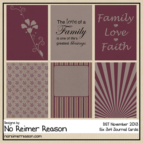No Reimer Reason - Free 3x4 Journal Cards - Click for larger preview