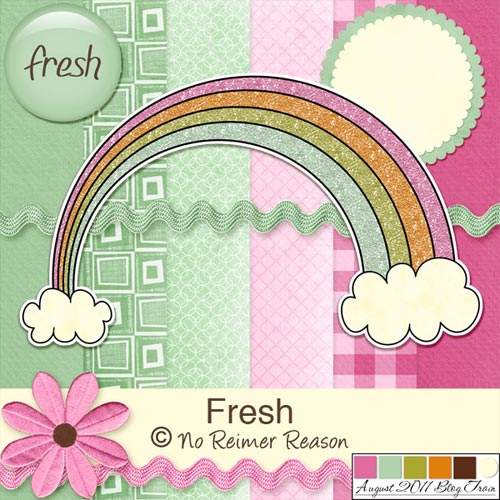 Fresh - Free Digital Scrapbook Kit