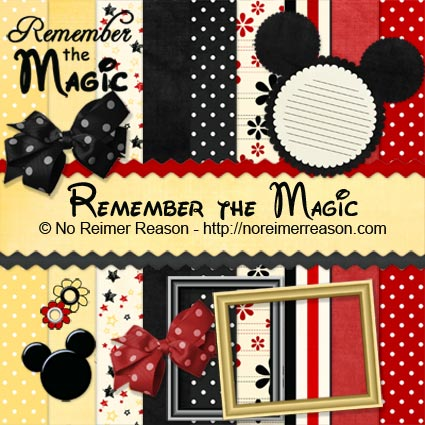 Free Digital Scrapbook Kit Remember The Magic No Reimer Reason
