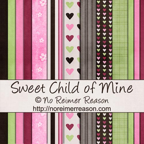 Sweet Child of Mine - Free Digital Scrapbook Kit