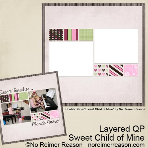 Sweet Child of Mine - Free Digital Scrapbook Layered Quick Page