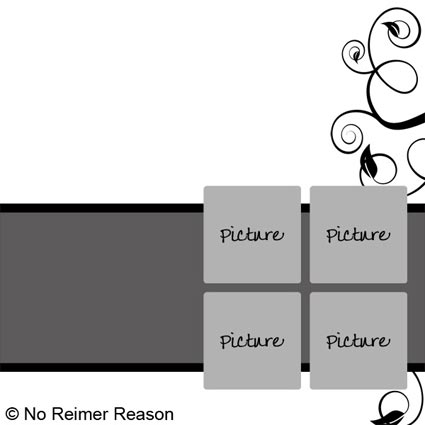 No Reimer Reason - Free Digital Scrapbook Template - Click for larger preview
