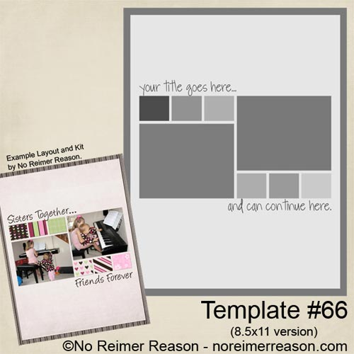 No Reimer Reason - Free 8.5x11 Digital Scrapbook Template - Click for larger preview
