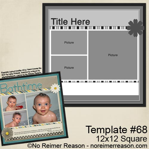 Free Digital Scrapbook Template for download