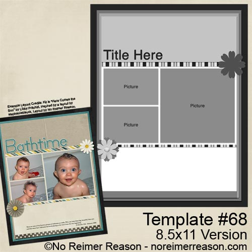 Free 8.5x11 Digital Scrapbook Template for download