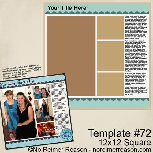 Free Digital Scrapbook Template
