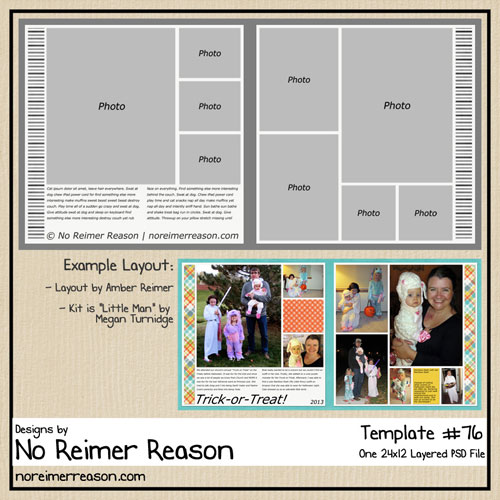 FREE Two-Page Digital Scrapbook Template #76
