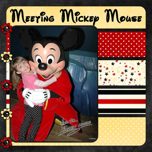 Mickey Mouse Scrapbook Layout