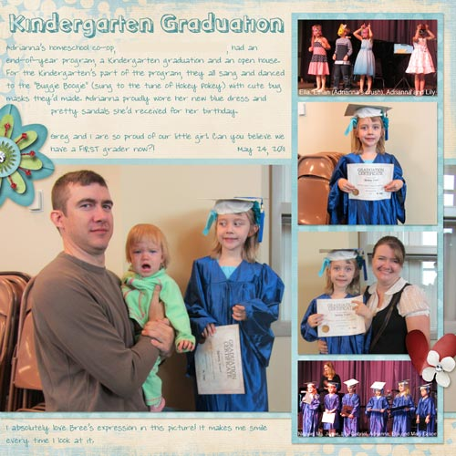 Kindergarten Graduation Layout