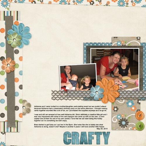 Getting Crafty Scrapbook Layout