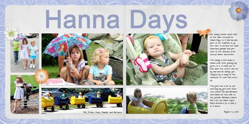 Hanna Days Digital Scrapbook Layout