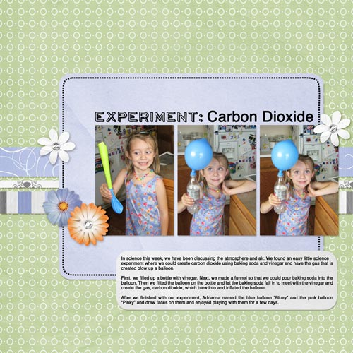Scrapbook Layout - Homeschooling Science Experiment