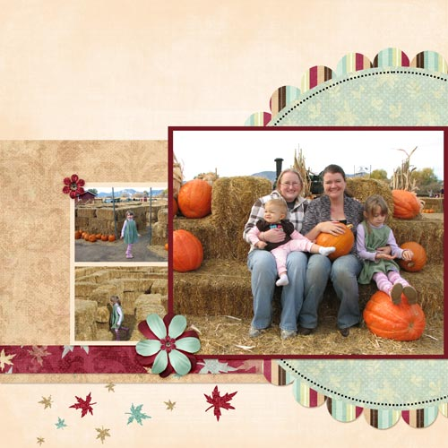 Pumpkin Patch - 2 Page Scrapbook Layout