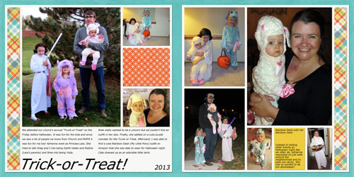 Trick-or-Treat Halloween Layout