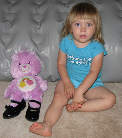 Adrianna and her bear